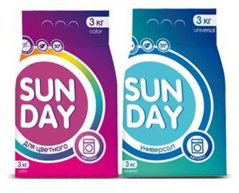 Порошок пральний Sun Day автомат для кольорового/універсальний, 3 кг