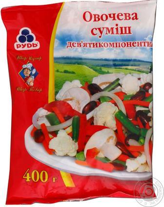 Суміш овочева Рудь 7-ми компонентна заморожена 400г