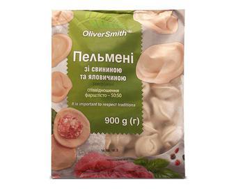 Скидка 40% ▷ Пельмені Oliver Smith зі свининою та яловичиною, 900г