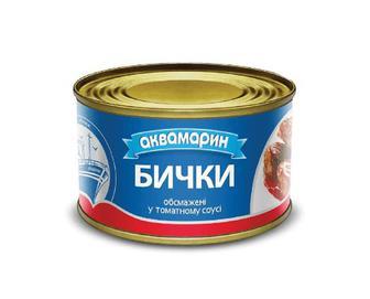 Бички «Аквамарин» обсмажені в томатному соусі, 230г