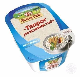 Сир кисломолочний 9,5%/нежирний Звени Гора 400г