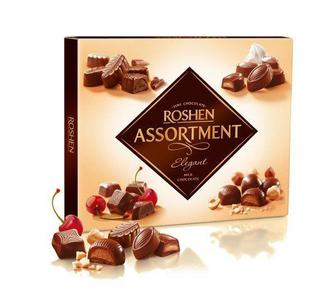 Цукерки Assortment чорний шоколад, Рошен, 154 г