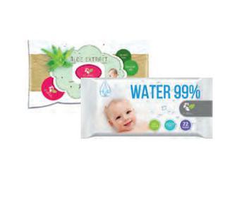 Вологі серветки Eco Relax алоє вера/вода 72шт