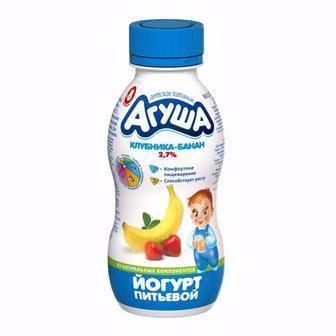 Йогурт питний 2,7% Агуша 200мл