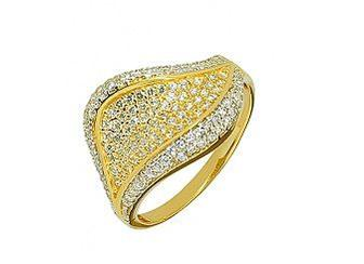 Золотое кольцо с фианитами 01-15672897