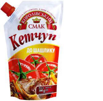 """Скидка 26% ▷ Кетчуп до шашлику, Лагідний, 300 г,  """"Королівський смак"""""""