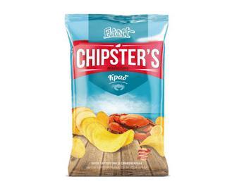 Чипси Flint Chipster's картопляні зі смаком краба, 130г