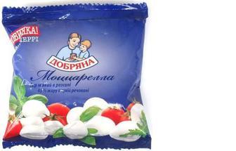 Сир Моццарелла черрі, 45%, ст.130г, Добряна