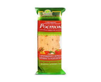 Хлібці «УкрЕкоХліб» «Росток» з зерен пшениці з солодким перцем та зеленню, 120г