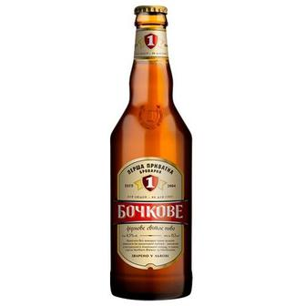 Пиво Бочкове Перша приватна броварня 0,5 л