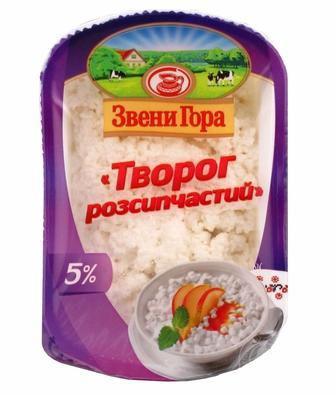 Скидка 15% ▷ Сир кисломолочний ніжний 5% 330г. Звенигора