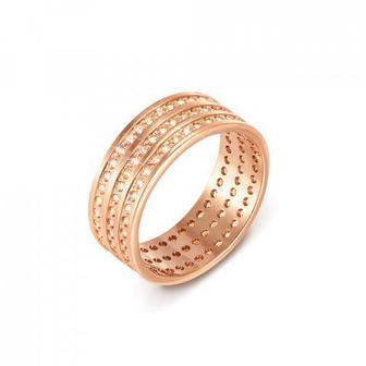 Обручальное кольцо с фианитами. Артикул 1081