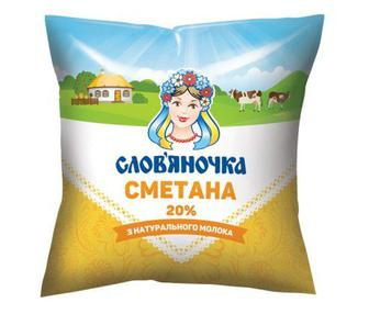 Сметана 20% Слов'яночка 380 г