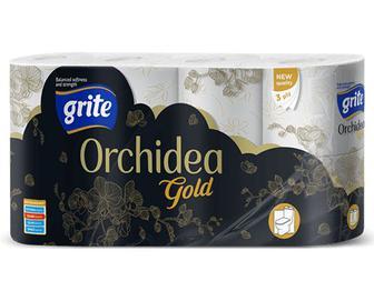 Папір туалетний Grite Orchidea Gold, 8 рулонів/уп