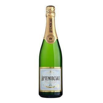 Вино ігристе біле або біле брют  Артемівське 0.75 л