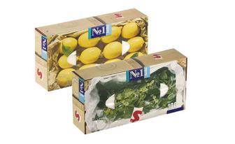 Хустинки паперові №1 двошарові, універсальні З ароматом лимону, З ароматом м'яти Белла 100 шт