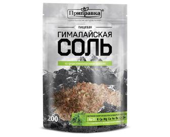 Сіль «Приправка» харчова «Гімалайська» з середземноморськими травами, 200г