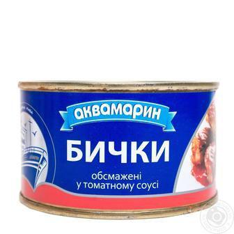 Бички в томатному соусі Аквамарин 230 г
