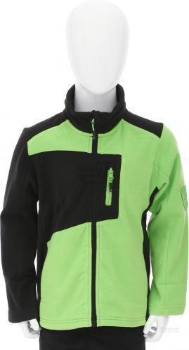 Спортивна кофта McKinley Ronald р. 116 чорний із зеленими вставками 250751-900057