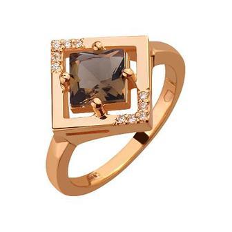 Золота каблучка з ювелірним склом і цирконієм куб. (1б_к-042/2486)