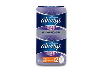 Прокладки гігієнічні Always Ultra Platinum Normal Plus, 16шт./уп