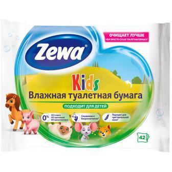 Папір туалетний Zewa Kids moist вологий 42шт