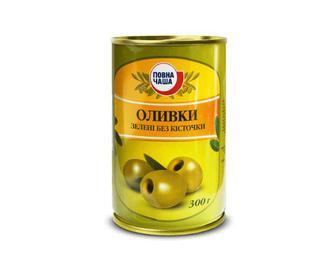 Оливки зелені без кісточки, Повна Чаша, 300 г
