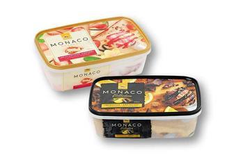 Морозиво Monaco Collection, шоколад-апельсин/ Monaco Dessert, полуничний чізкейк Три Ведмеді 500 г