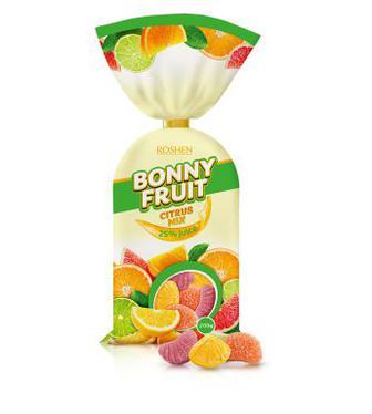 Желейні цукерки Bonny-fruit citrus mix Рошен кг