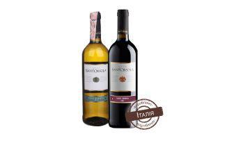 Вино Б'янко біле сухе, Россо червоне сухе Сент Орсола 0,75 л