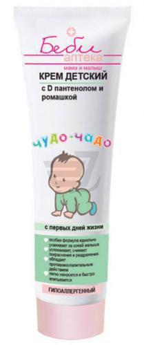 Дитячий крем Бебі аптека чудо-чадо з D-пантенолом і ромашкою 100 мл