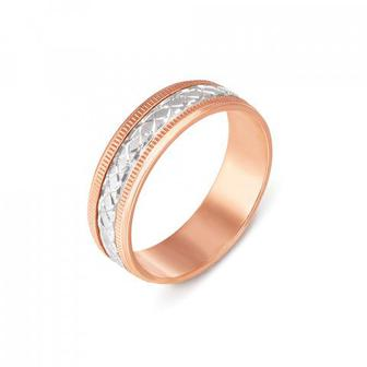 Обручальное кольцо комбинированное. Артикул 1071 :