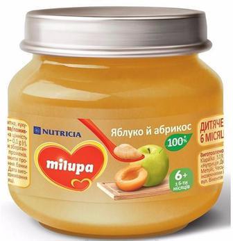 Пюре Milupa яблоко и абрикос (с 6 месяцев) 100 г