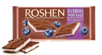 Шоколад молочний Roshen з чорничною нугою, 90 г