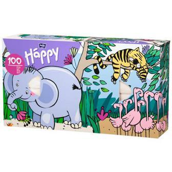 Хустинки Bella Happy паперові 100шт