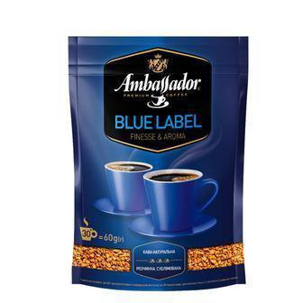 Кофе Blue Label, растворимый сублимированный Ambassador 120 г