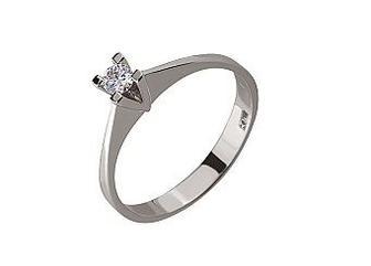 Золотое кольцо с бриллиантом Артикул 01-17520171