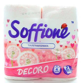 Туалетний папір Soffione Decoro 4 шт