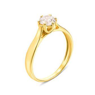 Золотое кольцо с фианитом. Артикул 12138/eu