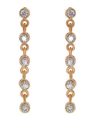 Золоті сережки з фіанітом (1с-094/34)