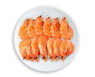 Скидка 21% ▷ Креветки в глазурі варено-морожені, кг