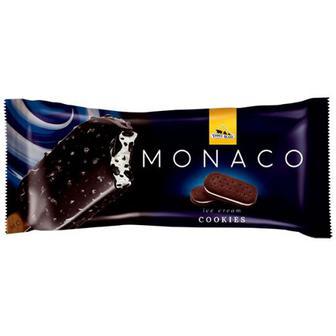 Морозиво Три ведмеді Monaco cookies глазур 80г