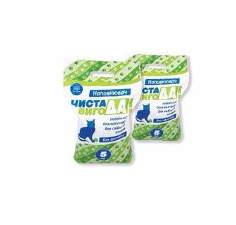 Наповнювач гігієнічний для тварин ТМ Чиста ВигоДА! 5 кг