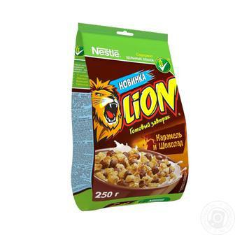 Готовий сніданок Nestle Nesquik/Lion карамельний мікс/Сіні-Мініс 500г