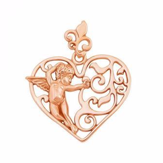 Золотая подвеска Сердце. Артикул 3886