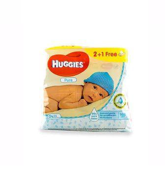 Дитячі вологі серветки Huggies Pure 168шт