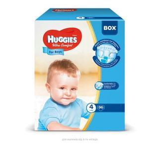 Підгузники Huggies Box UltraComfor д/хлоп 4 7-16кг, 96шт,уп