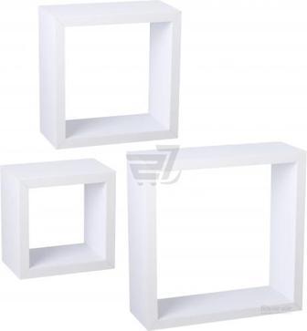 Комплект полиць Пуассі (квадрат) білий