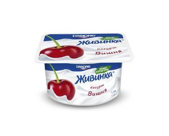 Йогурт молочний «Живинка» 1,5% жиру вишня, 115 г