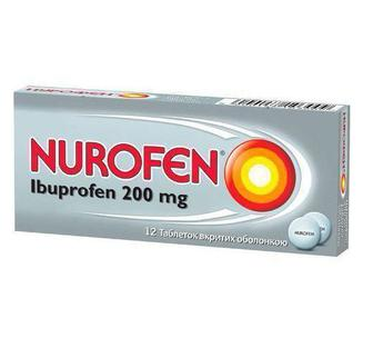 Нурофен 200 мг таблетки №12